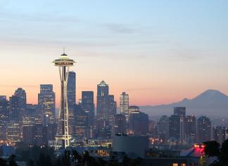 Seattle with Mt. Rainier